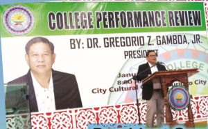 President Gamboa Delivers College Performance Review