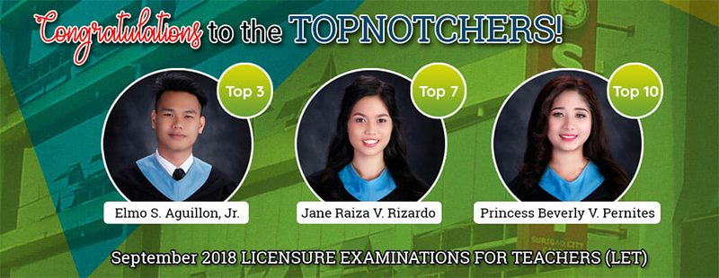 LET Topnotchers and TOSCA Awardees Recognized