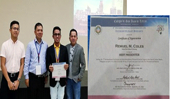 SSCT Faculty Awarded Best Presenter during the International Conference on Interdisciplinary Research